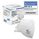 HANDANHY 20x FFP2 Atemschutzmaske Mundschutz Maske, CE zertifiziert, geprüft EN 149, 5-Lagen, Staubschutzmaske hygienisch einzelverpackt Medizinische Gesichtsmaske ohne Ventil