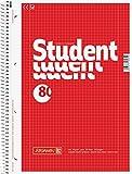 10 Brunnen Collegeblöcke Student A4 Lineatur 28 kariert , 80 Blatt weiß