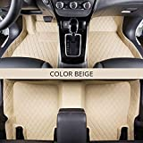 SR-Cover 5 Automatten Custom Car Teppich Indoor Teppich Mat Zubehör Auto Modelling (Color : All beige)