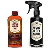 Lederpflege SPARSET mit Lederöl & Leder Reiniger | Premium Leder Pflege farblos mit echtem Bienenwachs & natürlichem Avocado-Öl zur Pflege und Reinigung in Profi-Qualität von URBAN FOREST