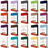 EllaTex Jersey Topper Spannbettlaken Spannbetttuch aus Reiner Baumwolle in Farbe: Weiß, Größe: Topper 180x200cm