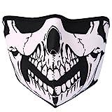 JewelryWe Neopren Biker Motorrad Snowboard Maske Sturmmaske Sturmhaube Skimaske - Skull Face Totenkopf