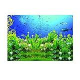 Homyl Aquarium Aufkleber Unterwasserwelt Hintergrund Rückwandfolie - XS