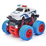 YUMOYA Monster Truck Spielzeug/Polizeiauto/Spielzeugautos für Jungen/Reibungsbetriebene Autos/Rückzugsautos für Kleinkinder/Offroad-Stunts Drehauto/Beste Weihnachts-Halloween-Geburtstagsgeschenke
