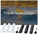 Explopur TRI FIN Box - 3Er Pack Future Tri Flossen Box Plugs Fin Basis Sup Schraube Surf Flossen Plugs Set Extra Fin Key Fin Schrauben