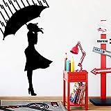 Ajcwhml Personalisierte Yoga Wandsticker Moderne stilvolle Wandsticker für Kinderzimmer Wandkunst Aufkleber