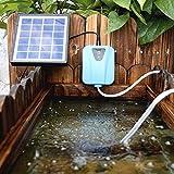 HBWJSH Solarbetriebene/Mini Electric Aquarium Luftpumpe Oxygenator for Teiche Wasser Sauerstoff-Pumpe Teichbelüfter Mit 1 Ausströmerstein 2L / Min DC 5V