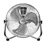 OZAVO Standventilator, Windmaschine ⌀36/48/54 cm mit 3 Laufgeschwindigkeiten, Bodenventilator Power, Tischventilator Metall, Luftkühler, verstellbare Neigungswinkel, 40/90/100 W (⌀48cm)
