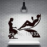 jiushivr Mädchen Nagel Hand Nagelstudio Maniküre Wand Kunst Vinyl Wandtattoo Aufkleber Salon Nagel Shop Dekoration Fenster St M 56 X 75 cm