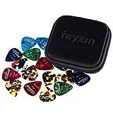 Rayzm Guitar Picks Plektren, Celluloid Plektrum Plektron Picks für Gitarre und Bass. Verschiedenen Farben & 6 verschiedene Dicken (40 Stück)