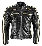 XLS Motorradjacke Classic One für Herren schwarz Retro Bikerjacke herausnehmbares Thermofutter Größe XXXL