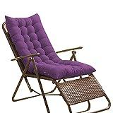 Loungesessel-Polster, Auflage für Sonnenliege, Liegestuhl Stuhlkissen, dicker Bezug für den Außengebrauch, 125488CM