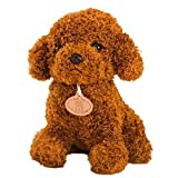 Teddy Hund Puppe Spielzeug Stofftier Plüsch Hund Stofftier Welpen-Kissen-Kissen Hellbraun LEIBAO