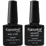 KANORINE ™ Base Coat Top Coat UV LED Gel Nagellack Gellack Unterlack & Überlack Set Nägel Maniküre Kit 2×10ml