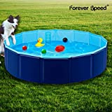 Forever Speed Hundepool, Doggy Pool, Katzenpool, Faltbares Pool, Kinderbadewann, Umweltfreundliche PVC, rutschfest, Gut Abgedichtet Haustiere Dunkelblau 160 * 30CM
