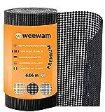 Weewam Premium rutschfeste Schubladenmatte. Einfach zu installieren| Rolle 30,48 x 600 cm. Der langlebige & komfortable Schubladeneinsatz| Schutz für Schubladen Regale Schränke unter der Spüle-Schwarz