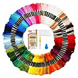 Mitening Stickgarn, Embroidery Threads Floss Sticken Set Weicher Baumwollgarn Garn für...