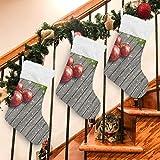 FCZ 1 Stück Weihnachtskugeln aus Holz für Weihnachten, Socken, Geschenktüten für Kinder, Plüsch, zum Aufhängen, für Familie, Urlaub, Weihnachten, Party, Dekoration, Länge 45 cm, Samt, Multi, 1 Stück