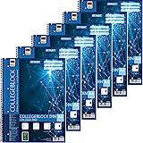 Stylex 43888-P6-6x Collegeblock Spirale, liniert DIN A4, 80 Blatt, 60 g/m²