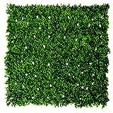 GreenBrokers Künstliche Wandhecke, Weiß, Grün, 4 Stück