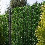 FairyTrees Sichtschutz Garten Zaunblende, GreenFences Hecke, Kiefernoptik Dunkelgrün, PVC, Höhe 130cm, 2m