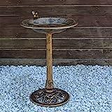 CLGarden Vogeltränke VGT3 Vogelbad Vogel Tränke Bad mit Vogel auf der Wasserschale