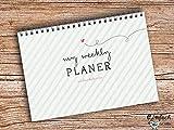 My weekly Planer grün Ringblock A5 Wochenkalender Block Planer