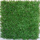 Tenax Künstliche Hecke mit Blättern, ausziehbar, aus Weide, 3D X-Tens Bambus, 1 x 2 m, Grün