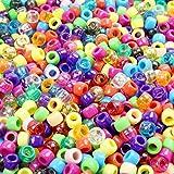 TOAOB 1000 Stück 6x8mm Pony Perlen Mischfarbige Acryl Bastelperlen für DIY Halsketten Armbänder Schmuckherstellung