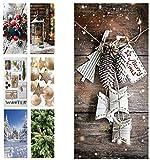 Hochwertiger Textilbanner Weihnachten/Winter – Große Auswahl – 180cmx90cm – Einseitig Bedruckt - Schaufenster Deko - Wanddeko/Textilbild/Weihnachtsdeko (Merry Xmas)