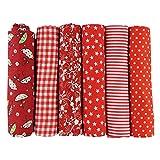aufodara 6 stuks 50 x 50 cm stofpakketten patchwork stoffen katoenen doek DIY handgemaakte naaien quilten stof katoenweefsel verschillende designs