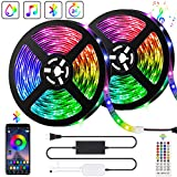 10M Bluetooth LED Streifen Musical 5050 RGB, LED Strip 300 LED Lichtband, Musikalische Funktion,...