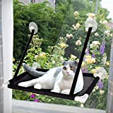 Afufu Katzen Fensterplätze, Katzen Fensterliege, Fensterplatz Window Lounger Katzen Hängematte für große Katzen-Miezekatze 10kg
