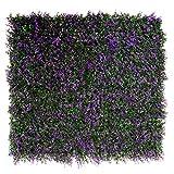 GreenBrokers Künstliche Wandhecke, Blätter, Violett, 4 Stück