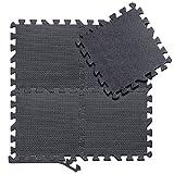 arteesol Schutzmatten Set - 18 Puzzlematten je 30x30x1cm,Premium Bodenschutzmatten Unterlegmatten Fitnessmatten für Sport Fitnessraum Fitnessgeräte Fitness Pool (18 Matten)