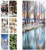 Hochwertiger Textilbanner Weihnachten/Winter – Große Auswahl – 180cmx90cm – Einseitig Bedruckt - Schaufenster Deko - Wanddeko/Textilbild/Weihnachtsdeko (Flussufer)