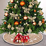 30 Zoll Christmas Tree Skirt mit Christmas Tree,Christbaumständer Teppich,Christmas Tree Rock,Decke...