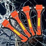 Auto Notfallhammer, 4 Stück Sicherheitshammer, Sicherheitsgurt Schneider, Nothammer für Autoscheiben, Rettungshammer mit gurtschneider, Gurtmesser mit Hammer, für KFZ Bus