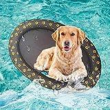 Volwco Schwimmbecken für große Hunde, tragbares Schwimmbecken für Schwimmbecken, aufblasbar, für kleine Welpen und Erwachsene, 139,7 x 88,9 cm, grau